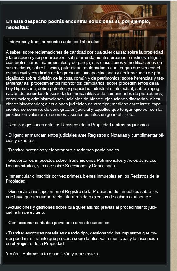 Juan Manuel Mansilla - Procurador de los Tribunales - Servicios despacho